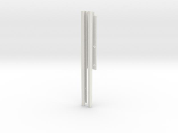 pg492c Beneteau rails, iteration.17 in White Natural Versatile Plastic