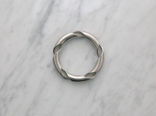 Hong Kong bracelet in Polished Nickel Steel: Extra Small