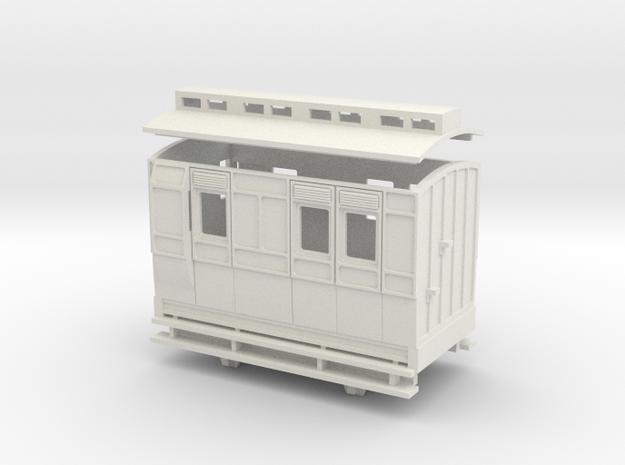 OO9 4w brake coach clerestory roof 3d printed