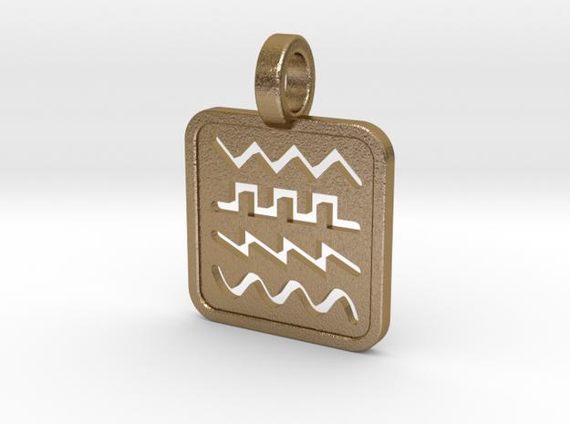 Waveforms in Polished Gold Steel