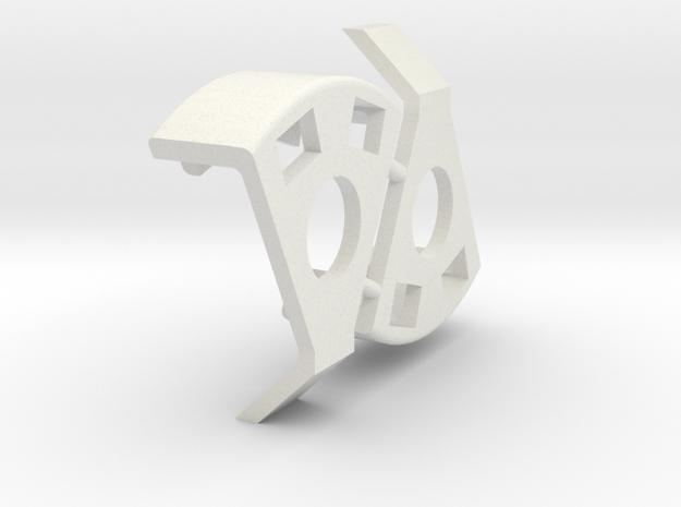 Mk1 Center Seat Glide Bushing Pair in White Natural Versatile Plastic
