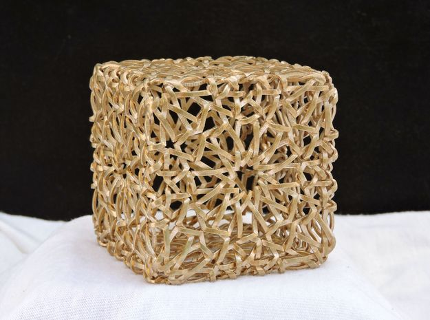 Islamic Woven Cube  in Natural Bronze