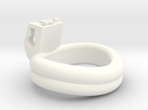 Cherry Keeper Ring - 40x35mm Double (~37.5mm) in White Processed Versatile Plastic
