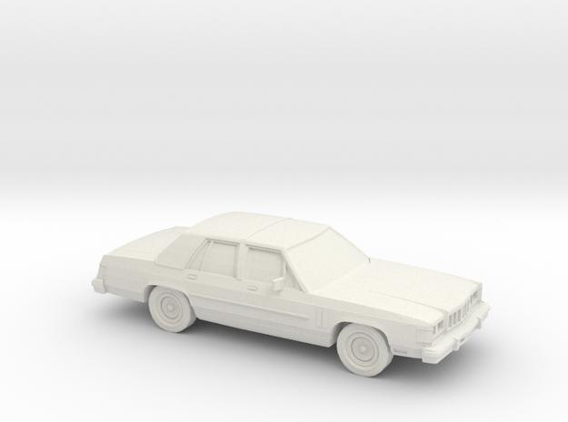 1/43 1986 Mercury Grand Marquis Shell in White Natural Versatile Plastic