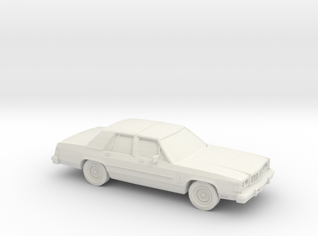 1/43 1986 Mercury Grand Marquis Shell in White Natural Versatile Plastic