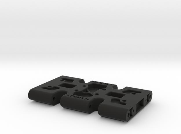 Center Skid V1.1 for SCX10 II with mirror trans op in Black Natural Versatile Plastic