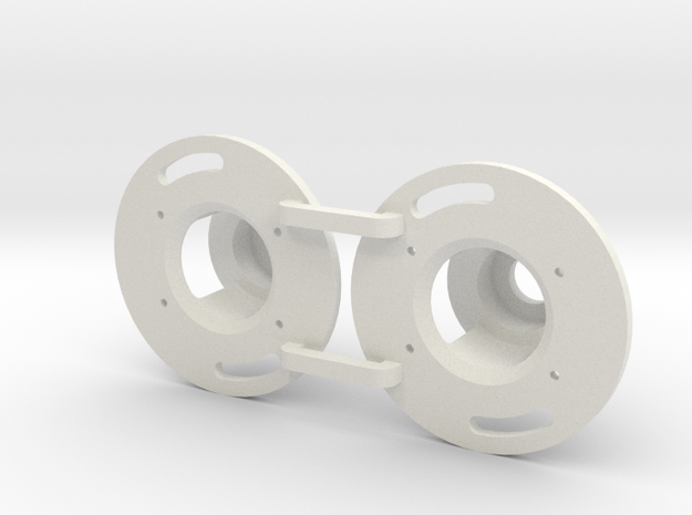 MOTOR End bell for the brood Genesis motor  in White Natural Versatile Plastic