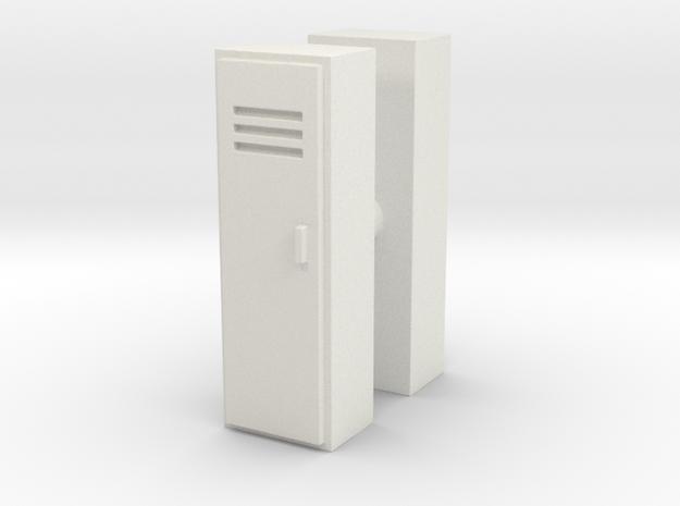 Locker (x2) 1/64 in White Natural Versatile Plastic