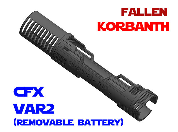 Korbanth - Fallen - Var2 - CFX in White Natural Versatile Plastic