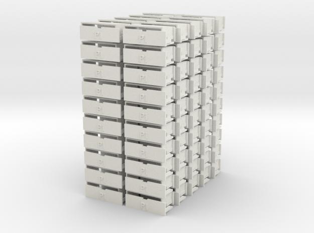 100 Parts RevB in White Natural Versatile Plastic
