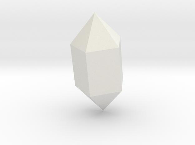 Pentagonal prism and bipyramid in White Natural Versatile Plastic