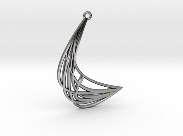 Fan swish in Fine Detail Polished Silver