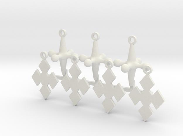 Cosplay Charm Kit - Jacks and Diamonds in White Natural Versatile Plastic