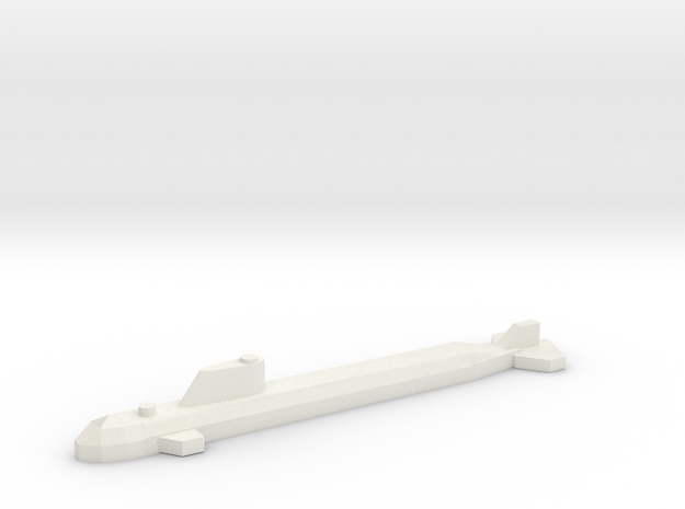 Nuclear Attack Submarine, SSN. in White Natural Versatile Plastic