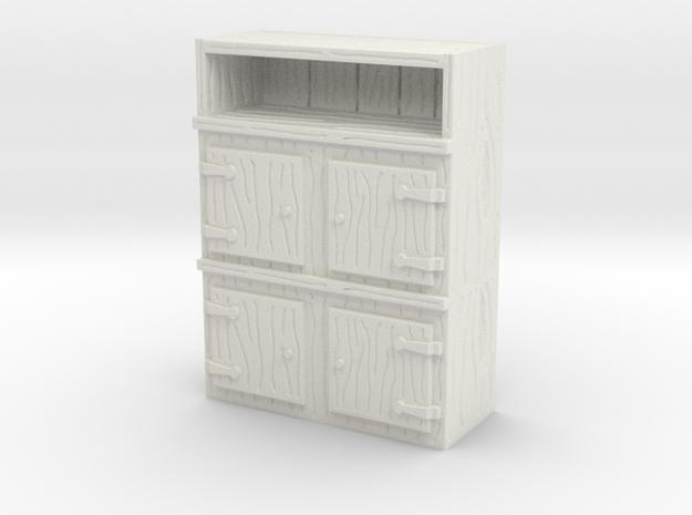 Wooden Cabinet 1/35 in White Natural Versatile Plastic