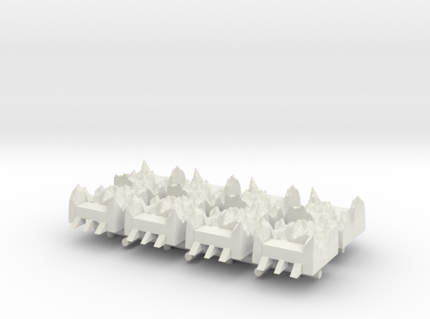 1/285 Submarine Pen/ Submarine Base (x6) in White Natural Versatile Plastic