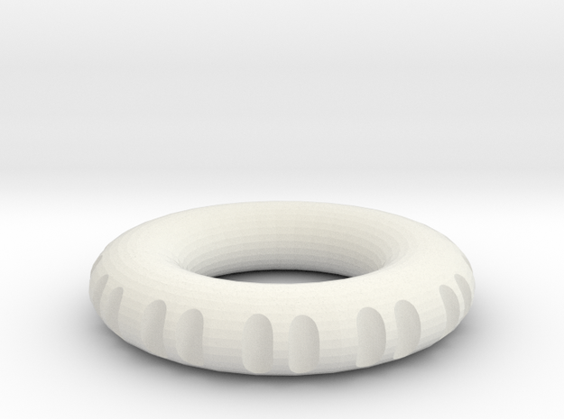 double edge rodin coil frame  40 x 40 x 8 mm  in White Natural Versatile Plastic