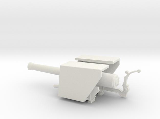 simple  9.2 mk 1a truck oo railway artillery  in White Natural Versatile Plastic
