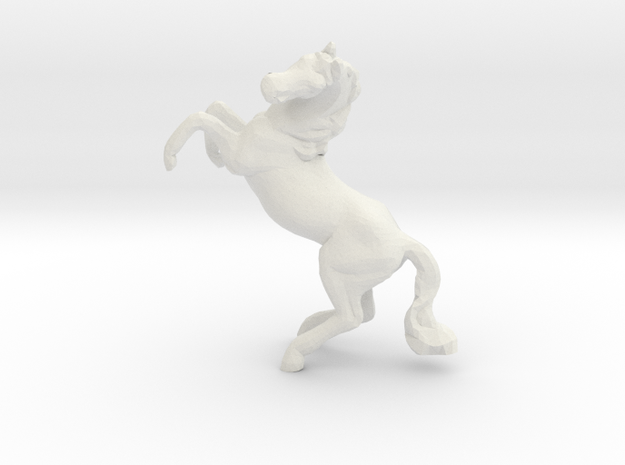 Miniature 1:48 Horse in White Natural Versatile Plastic