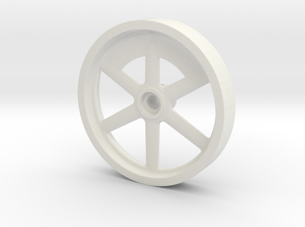 Flywheel Hicks Engine in White Natural Versatile Plastic: 1:12