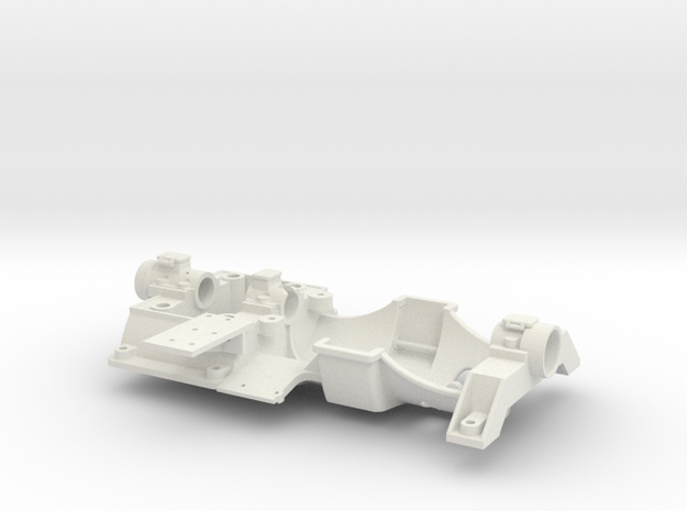 Bedplate- Hicks Marine Engine in White Natural Versatile Plastic: 1:12