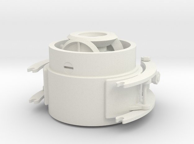 Reverse Asy- Hicks Marine Engine in White Natural Versatile Plastic: 1:12