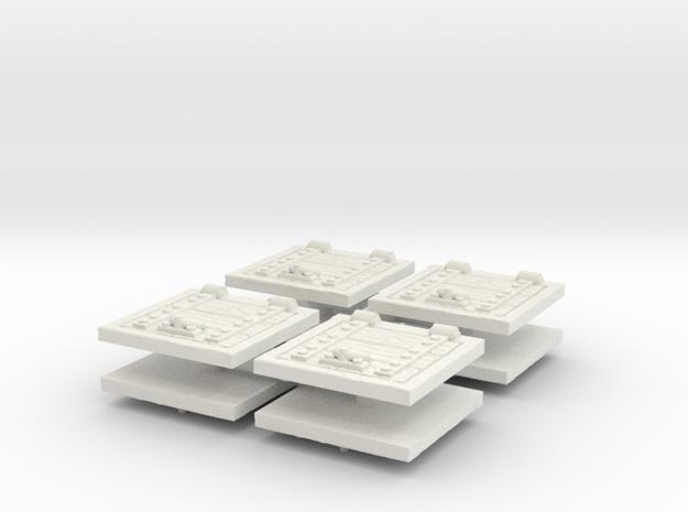 Wooden Trapdoor (x8) 1/100 in White Natural Versatile Plastic