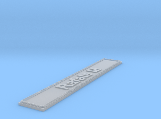 Nameplate Rafale M in Smoothest Fine Detail Plastic