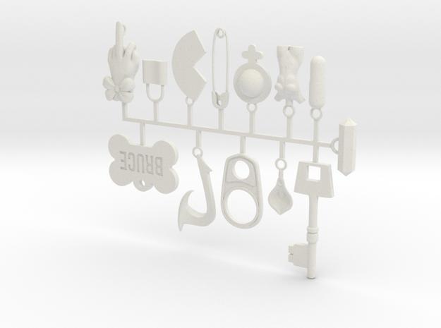 Cosplay Charm Kit - Multi-Charm Bundle in White Natural Versatile Plastic