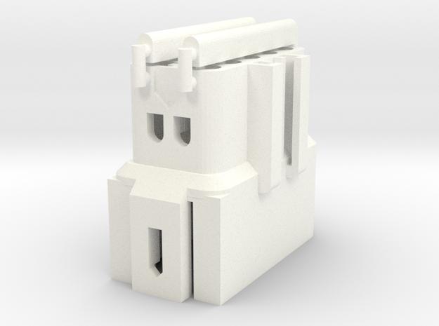 Late Westy Fuse Block Universal Plug Female in White Processed Versatile Plastic