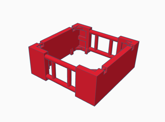 1:64 4Ft Manhole box extension  in Smooth Fine Detail Plastic