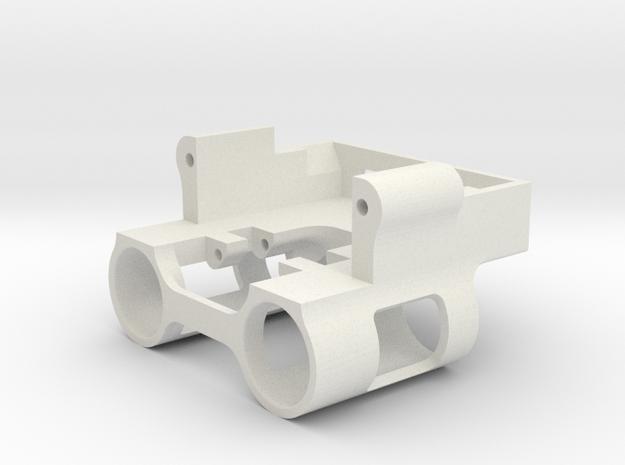SCX24 Weighted Servo Mount in White Natural Versatile Plastic
