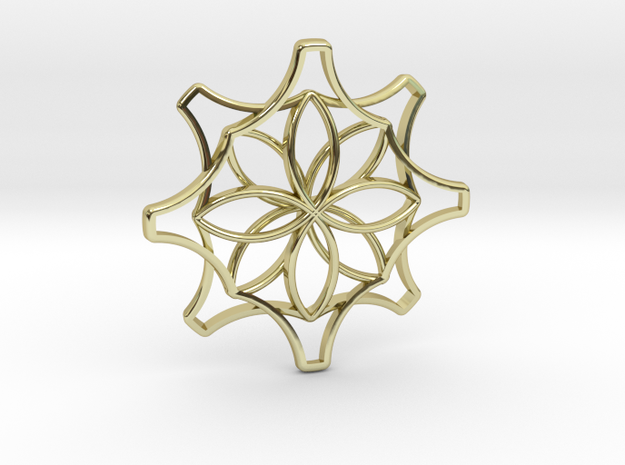 Flower_pend in 18k Gold Plated Brass