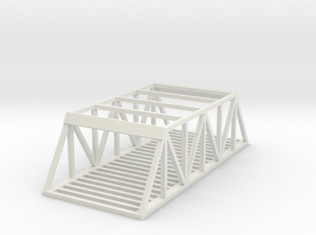Dual Track Straight Bridge - Zscale in White Natural Versatile Plastic