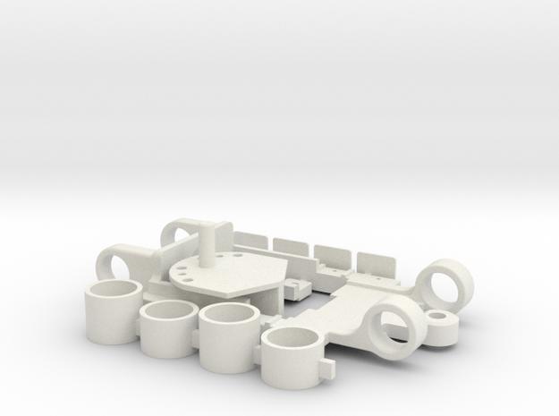 PDR_Fiat500 in White Natural Versatile Plastic