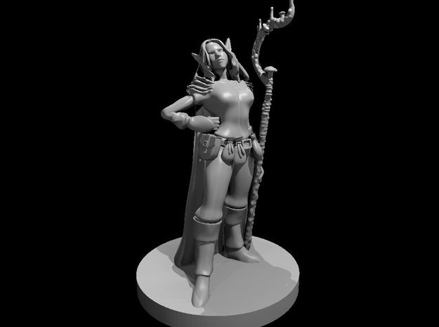 Female Elf Druid of the Spore Circle in Smooth Fine Detail Plastic