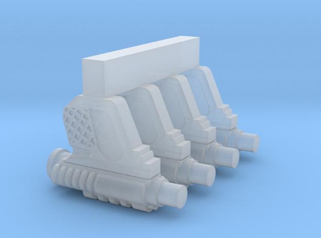 "PRHI Scout Blaster for 1"" Figures in Smoothest Fine Detail Plastic"