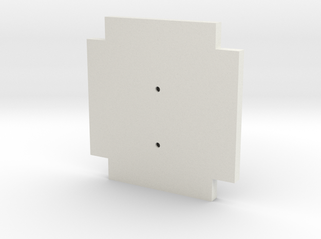 Life3D Capsule - Camera Plate Template in White Natural Versatile Plastic