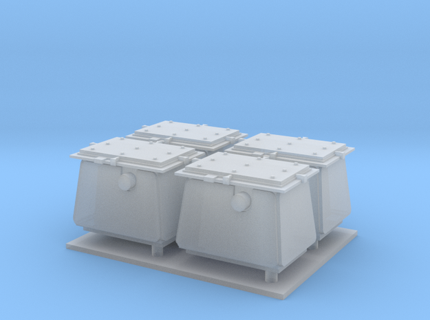 1/72 Ammo Boxes in Smooth Fine Detail Plastic