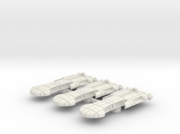Rigellian (RPSA) Escort Carrier Datagroup (sprued) in White Natural Versatile Plastic