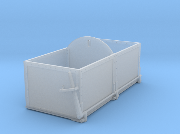 S Scale Drop Bottom Ash/Coal Bin in Smooth Fine Detail Plastic