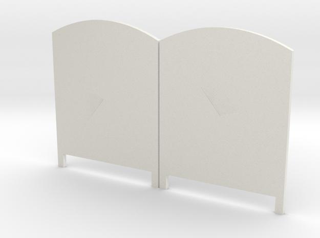 Bingley Works O-16.5 Coach kit ends - Plain in White Natural Versatile Plastic