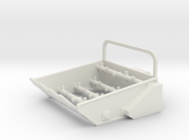 1/50th Bale Processor for Skid Steer Loader in White Natural Versatile Plastic