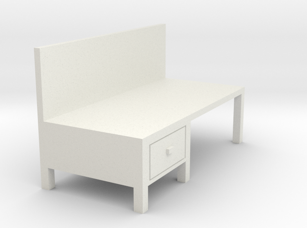 Workbench Table 1/64 in White Natural Versatile Plastic