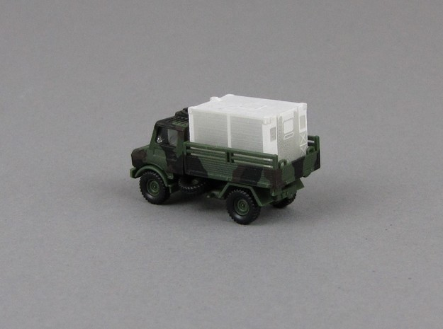 1:200 Kabine 1 Bundeswehr shelter V1 in Smooth Fine Detail Plastic