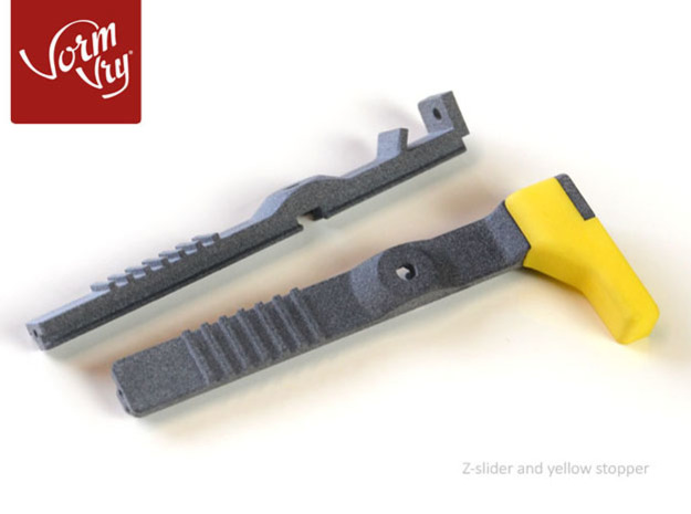Colored replacement z-stopper for  LUTUM® 4 in Yellow Processed Versatile Plastic