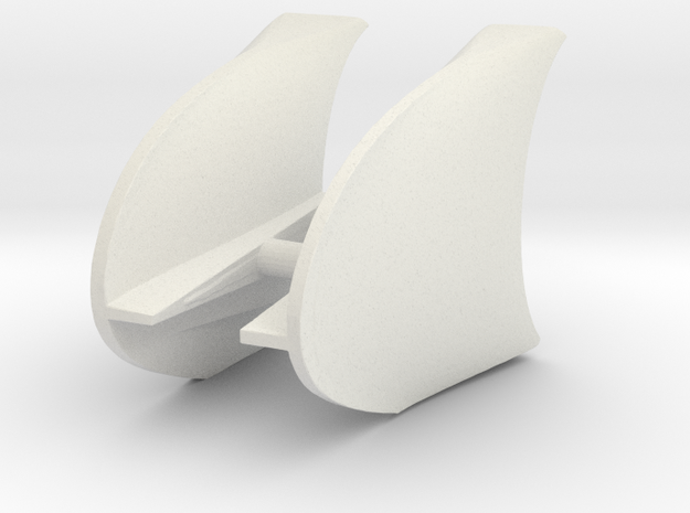 Tucan front fenders 4.75 in White Natural Versatile Plastic