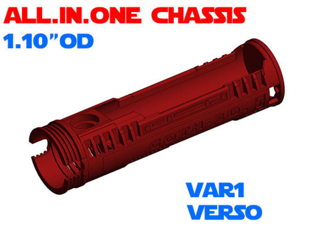 """ALL.IN.ONE - 1.10""""OD - Verso chassis Var1 in White Natural Versatile Plastic"""