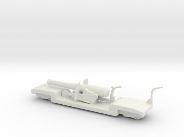 9.2 mk 1a truck 1/144 ww1 railway artillery  in White Natural Versatile Plastic