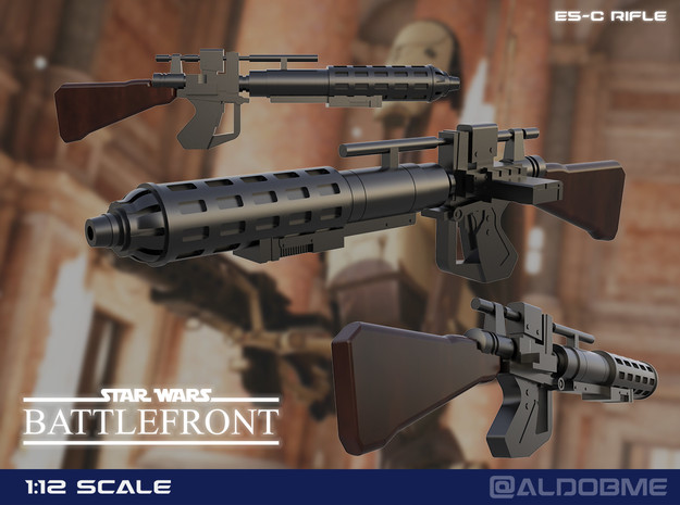 E5-C Rifle (Battlefront II) in Smooth Fine Detail Plastic